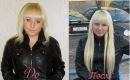Наращивание волос на заколках. Натуральные накладные пряди, Челки