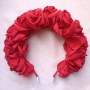 Цветочные ободки и другие аксессуары из ткани ручной работы