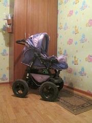 продам коляску трансформер  3 в 1 лето/зима колесо 30 см