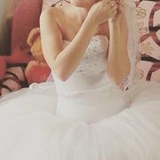 Продам свадебное платье,  с заниженной талией